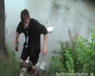 Public Handjob In The Rain By A Lake - scene 10