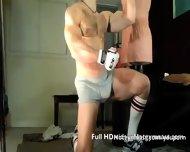 Leather Cumming Muscle Stud - scene 8