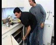 Mature Man Surprises The Repair Man Latin Hot - scene 10