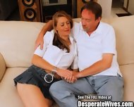 Blonde Whore Fucked Hard On Couch - scene 3