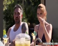 Two Married Couples Swap Partners In The Pool Fucking - scene 1
