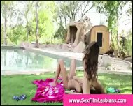 Outdoor Face Sitting For Teens In Lesbian Sex Tape - scene 1