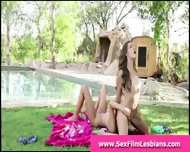 Outdoor Face Sitting For Teens In Lesbian Sex Tape - scene 2