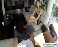 Cute Tall Girl Gets Fucked And Jizzed On Caught On Spy Cam - scene 1