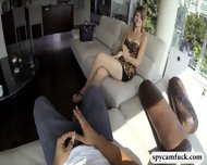 Cute Tall Girl Gets Fucked And Jizzed On Caught On Spy Cam - scene 3