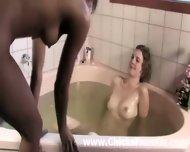 Bath Time For Interracial Aussie Lesbian Amatuers - scene 10