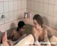 Bath Time For Interracial Aussie Lesbian Amatuers - scene 3