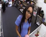 Desperate Nurse Selling Her Old Teapot In The Pawnshop - scene 2