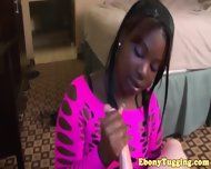 Black Ebony Hottie Strokes White Dick - scene 1