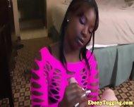 Black Ebony Hottie Strokes White Dick - scene 2