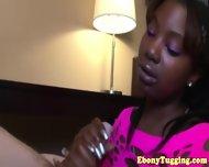 Black Ebony Hottie Strokes White Dick - scene 4