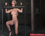 Nasty Sub Restrained Backwards And Toyed - scene 10