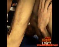 Muscular Latino Couple Bareback In Gym - scene 7