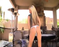 Angie Savage Strips And Fingers Her Pussy Until She Cums - scene 2