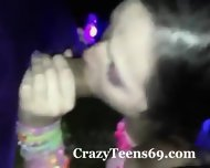 Teen Girl Sucks And Fucks At A Rave - scene 1