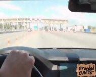 Foxy Di Gets Wet When Dude Speeds Up His Driving - scene 2