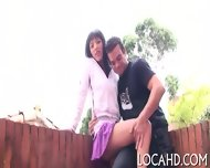 Shaved Tight Pussy Is Hammered - scene 1