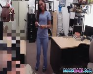 Desperate Nurse Got A Big Facial And Some Green Bills From The Pawnman - scene 5
