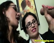 Bigtit Spex Milfs Enjoying Cock Together - scene 6