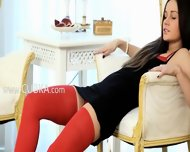 Blackhair In Red Riding Sexy Toy - scene 1