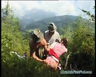 Extreme Threesome Sex In Nature - scene 1