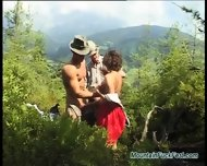 Extreme Threesome Sex In Nature - scene 2