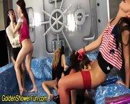 Lesbo Group Bathe In Piss - scene 1