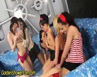Lesbo Group Bathe In Piss - scene 9