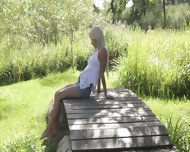 Blondie Beauty From Sweden Touching Clit - scene 2