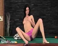 Delicate Cunt Masturbation On The Billiards - scene 4