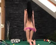 Delicate Cunt Masturbation On The Billiards - scene 6