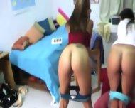 Two Young College Girls Enjoying Dicks - scene 5