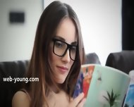 Fluent Brunette With Glasses - scene 1