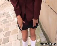 Cute Student Tricia Teen Banged And Facialed For Cash - scene 1