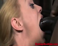 Bound Sub Gets Throat And Pussy Fucked - scene 2