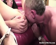 Nerdy Petite Teen Is Rough Fucked By Old Ben Dover And His Younger Friend - scene 10