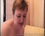 Chunky Redhead Granny Fucks An Old Blondie With A Thick Dildo - scene 8