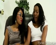 Ebony Mom Teaches Her Young Stepdaughter How To Blow A Black Cock - scene 4