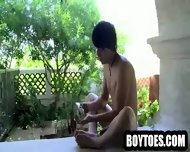 Amateur Hunk Showing His Feet And Jerking Off - scene 8