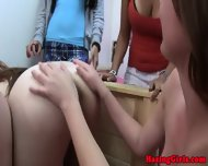 Hazed Sorority Coeds Form Oral Circle - scene 7