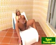 Tgirl Biana Ferraz Great Solo On Balcony - scene 6