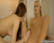 Two Glamour Teens Pleasuring Each Other On Kitchen Table - scene 11