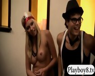 Hot Sexy Babes Turned On Two Nasty Dudes Playing Sex Games - scene 7