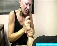 Horny Granny Eagerly Dick Gagging - scene 9