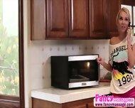 Beautiful Blonde Aaliya Love Gives Cherie Deville A Good Massage - scene 1
