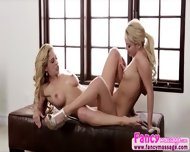 Beautiful Blonde Aaliya Love Gives Cherie Deville A Good Massage - scene 9