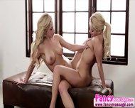 Beautiful Blonde Aaliya Love Gives Cherie Deville A Good Massage - scene 10