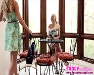 Beautiful Blonde Aaliya Love Gives Cherie Deville A Good Massage - scene 3