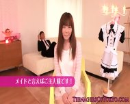 Beautiful Japanese Teen Dressed As A Maid - scene 3