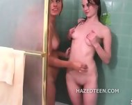 Sorority Lesbians Trick Straight Girls - scene 7